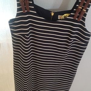 Michael Kors Sailor Navy/White Striped  Dress
